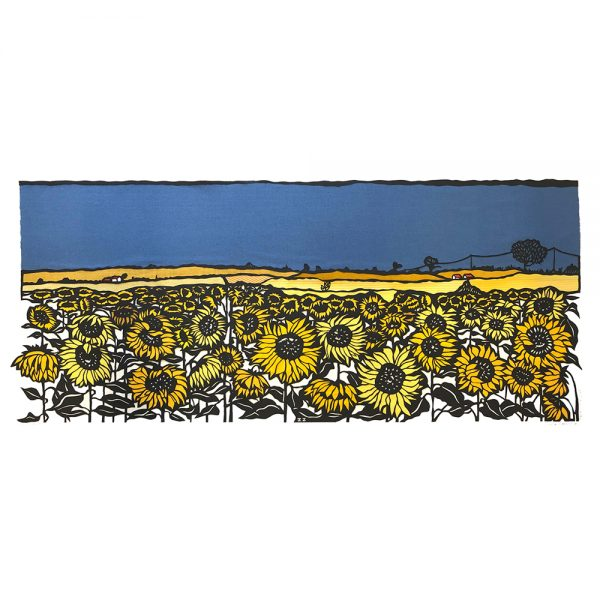 Print - Sunflowers in stormy sky