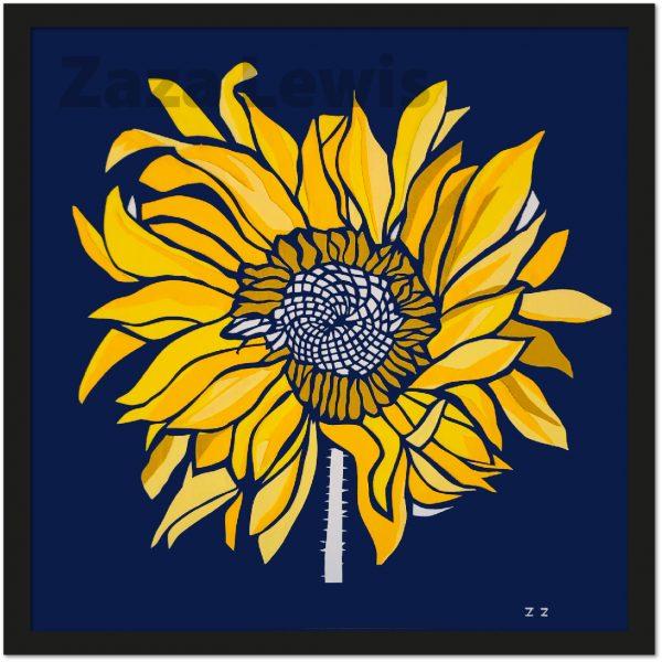 Sunflower_framed