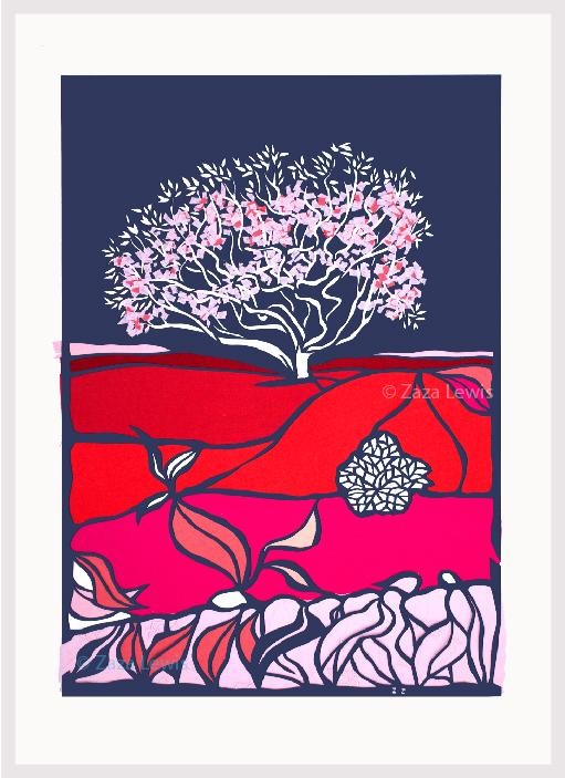 Magnolia_2_leaves_Frame
