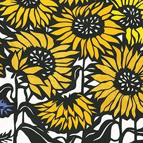 Sunflowers_cornflower_detail