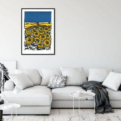ohmyprintscornflower_sunflowers